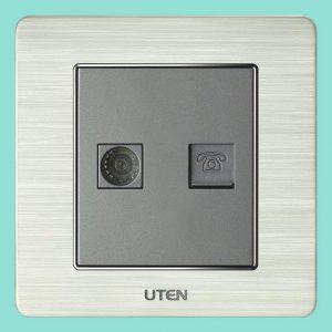 Ổ cắm tivi + điện thoại UTEN V6.0